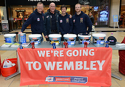 The Johnstone Paint team - Photo mandatory by-line: Dougie Allward/JMP - Mobile: 07966 386802 - 11/03/2015 - SPORT - Football - Bristol - Cabot Circus Shopping Centre - Johnstone's Paint Trophy