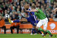 Fotball<br /> Irland v Frankrike<br /> Foto: DPPI/Digitalsport<br /> NORWAY ONLY<br /> <br /> FOOTBALL - FIFA WORLD CUP 2010 - PLAY OFFS - REPUBLIC OF IRELAND v  FRANCE - 14/11/2009<br /> <br /> Nicolas Anelka - FRA<br /> Glenn Whelan - IRL