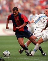 Rivaldo - Barcelona. Barcelona v Lazio. The Amsterdam Tournament. Amsterdam Arena, 5/8/2000. Credit: Colorsport / Stuart MacFarlane.