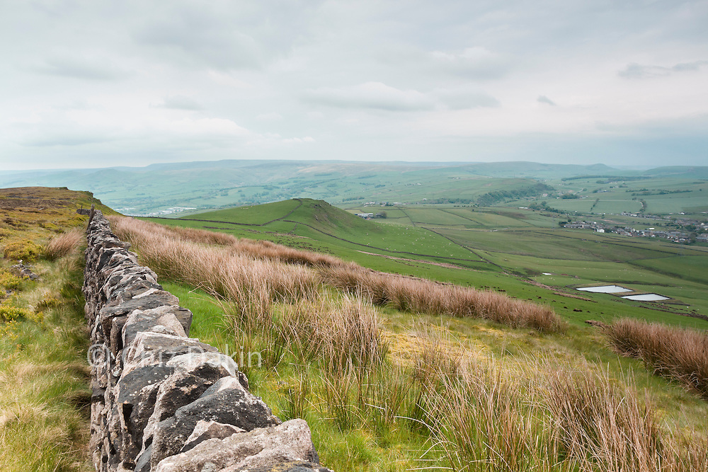 Looking down from Hob Tor over Lady How towards Kinder (in the far distance)