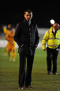 Hartlepool Utd manager Colin Cooper looks on after the game.Skybet football league two match, Newport county v Hartlepool Utd at Rodney Parade in Newport , South Wales on Friday 15th November 2013. pic by Andrew Orchard, Andrew Orchard sports photography,
