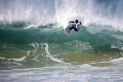 Hawaiian Keanu Asing placed second in R1 H7 at the Corona open J-Bay.