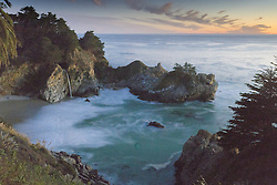 McWay Falls at Dusk, Julia Pfeiifer Burns Stae Park, Big Sur, California, US
