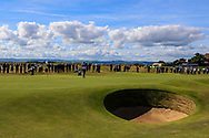 Conor Purcell (GB&I) on the 17th during Day 2 Foursomes of the Walker Cup, Royal Liverpool Golf CLub, Hoylake, Cheshire, England. 08/09/2019.<br /> Picture Thos Caffrey / Golffile.ie<br /> <br /> All photo usage must carry mandatory copyright credit (© Golffile   Thos Caffrey)