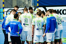Slovenian national team during Men's EHF EURO 2022 Qualifiers between national teams Slovenia and Netherlands in Arena Zlatorog, Celje, Slovenia on 10. January, 2021. Photo by Grega Valancic