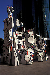 """Stock photo of the Jean Dubuffet sculpture """"Monument to the Phantom"""" in downtown Houston Texas"""
