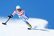 Stephanie Jallen of the United States competes in the Women's Standing Super-G at Jeongseon Alpine Centre on Day 2 of the PyeongChang 2018 Paralympic Games on March 11, 2018 in Pyeongchang-gun, South Korea.