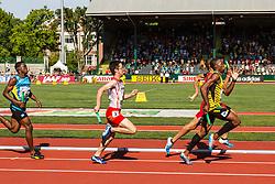 mens 4x400 relay, Manley, Jamaica, Brown, USA