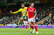 Norwich City midfielder Josh Murphy (11) shoots at goal scores goal during the EFL Sky Bet Championship match between Norwich City and Barnsley at Carrow Road, Norwich, England on 18 November 2017. Photo by Phil Chaplin.