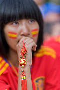 International fans in Madrid