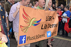 Lib Dems at Pride 2017, Norwich UK, 29 July 2017