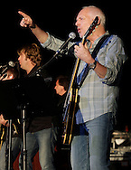 Peter Frampton, right, and his band perform at Bethel Woods Center for the Arts on Friday, June 18, 2010.