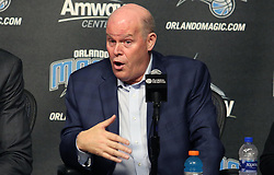 June 22, 2018 - Orlando, FL, USA - Orlando Magic head coach Steve Clifford during a news conference at the Amway Center in Orlando, Fla., on Friday, June 22, 2018. (Credit Image: © Stephen M. Dowell/TNS via ZUMA Wire)