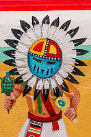 A Native American mural, Old Town Plaza, Albuquerque, New Mexico USA
