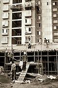 Construction workers in Beijing.