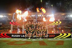 December 2, 2017 - Brisbane, Australie - Australia v England 2017 Rugby League World Cup Final Australia team celebrate winning the 2017 Rugby League World Cup Final at Brisbane Stadium, Brisbane (Credit Image: © Panoramic via ZUMA Press)