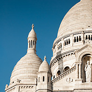 Detail of the facade of Sacre Coeur Basilica in Montmartre, Paris.