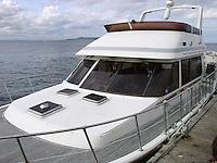 Yacht moored in Dublin Ireland