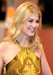 ©London News Pictures. 13/02/2011. Actress Rosamund Pike Arriving at BAFTA Awards Ceremony Royal Opera House Covent Garden London on 13/02/2011. Photo credit should read: Peter Webb/London News Pictures