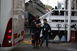 February 19, 2019 - Barcelona, Spain - French driver Pierre Gasly of Austrian Anglo team Aston Martin Red Bull Racing walking in paddock before his first day of Barcelona winter test in Catalunya Circuit in Montmelo, Spain, on February 19, 2019. (Credit Image: © Andrea Diodato/NurPhoto via ZUMA Press)