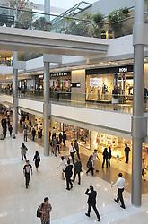 Interior of IFC shopping mall in Hong Kong