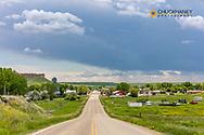 Small town of Winnett, Montana, USA