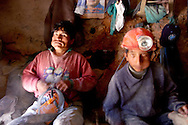 The miners of Cerro Rico Potosì are chewing coca before to entry in the mine