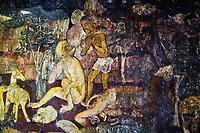 Inde, état de Maharashtra, Ajanta, grottes d'Ajanta classées au Patrimoine mondial de l'UNESCO, grotte N°17 // India, Maharashtra, Ajanta cave temple, Unesco World Heritage, cave N°17