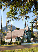 Wai'oli Hui'ia Church in Hanalei, Kaua'i, Hawai'i