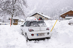 THEMENBILD - Neuschneesituation in Ainet, aufgenommen am Samstag, 5. Dezember 2020, in Osttirol. Der Winter macht sich in Teilen Österreichs mit enormen Schnee- und Regenmengen bemerkbar. In Osttirol und Oberkärnten ist von Freitag auf Samstag die Schneedecke um rund 50 bis 70 Zentimeter gewachsen. Mancherorts herrschte rote und damit höchste Wetterwarnung // New snow situation in Ainet, taken on Saturday, December 5, 2020, in East Tyrol. The winter is making itself felt in parts of Austria with enormous amounts of snow and rain. In East Tyrol and Upper Carinthia, the snow cover has grown by about 50 to 70 centimeters from Friday to Saturday. In some places there were red and therefore highest weather warnings. EXPA Pictures © 2020, PhotoCredit: EXPA/ Johann Groder