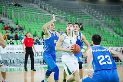 during basketball match between KK Union Olimpija Ljubljana and BC Levski Sofia (BUL) in 12th Round of ABA League 2014/15, on December 13, 2014 in Arena Stozice, Ljubljana, Slovenia. Photo by Vid Ponikvar / Sportida