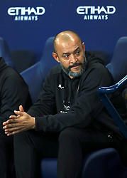 Wolverhampton Wanderers manager Nuno Espirito Santo ahead of the Carabao Cup, Fourth Round match at the Etihad Stadium, Manchester.