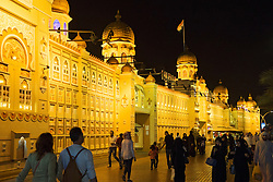 India Pavilion at night at Global Village tourist cultural attraction in Dubai United Arab Emirates