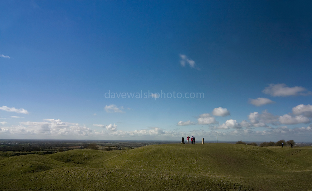 The Hill of Tara, Co. Meath, ancient seat of the High Kings of Ireland until the 6th century AD. It's located near Dunshaughling and Navan, and the River Boyne. ..