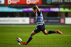 Steve Shingler of Cardiff Blues takes a kick at goal - Mandatory by-line: Craig Thomas/JMP - 04/11/2017 - RUGBY - BT Sport Cardiff Arms Park - Cardiff, Wales - Cardiff Blues v Zebre Rugby Club - Guinness Pro 14