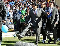 Fotball<br /> VM 2010<br /> 17.06.2010<br /> Argentina v Sør Korea<br /> Foto: Witters/Digitalsport<br /> NORWAY ONLY<br /> <br /> Trainer Diego Maradona (Argentinien)<br /> Fussball WM 2010 in Suedafrika, Vorrunde, Argentinien - Suedkorea