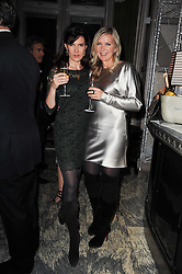 Left to right, RONNI ANCONA and AMANDA WAKELEY at a dinner hosted by Ruinart in honour of Amanda Wakely at The Connaught, Carlos Place, London on 20th October 2010.