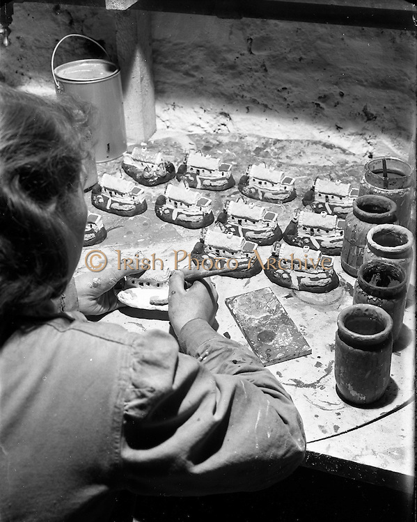 16/02/1953<br /> 02/16/1953<br /> 16 February 1953<br /> Designing and making plaster models (souvenirs?)  in factory on Middle Abbey Street, Dublin. For Mr. McCarthy.