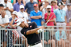 August 12, 2018 - St. Louis, Missouri, United States - Adam Scott tees off the 10th hole during the final round of the 100th PGA Championship at Bellerive Country Club. (Credit Image: © Debby Wong via ZUMA Wire)