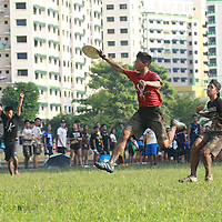 Admiralty Link, Sunday, June 5, 2016 — Pioneer Junior College (PJC) defeated Raffles Institution (RI) 13-9 to win the 12th Inter-JC Ultimate Championship.<br /> <br /> For PJC, victory this year marks a steady progression over the last three years. They had finished second to Serangoon Junior College (SRJC) in last year's final, and in 2014, they finished third. Defending champions SRJC finished sixth this year. RI were champions in 2013 and 2014.