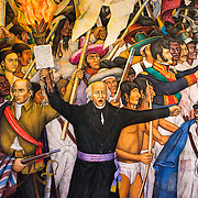 Retablo de la Independencia, by Juan O'Gorman, 1960-61. Since construction first started around 1785, Chapultepec Castle has been a Military Academy, Imperial residence, Presidential home, observatory, and is now Mexico's National History Museum (Museo Nacional de Historia). It sits on top of Chapultepec Hill in the heart of Mexico City.