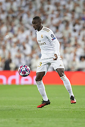 Real Madrid's Ferland Mendy during the UEFA Champions League round of 16 first leg match Real Madrid v Manchester City at Santiago Bernabeu stadium on February 26, 2020 in Madrid, Sdpain. Real was defeated 1-2. Photo by David Jar/AlterPhotos/ABACAPRESS.COM