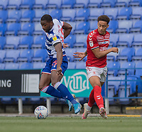 Marcus Tavernier (right) battles for possession with Reading's Yakou Meite (left) <br /> <br /> <br /> Photographer David Horton/CameraSport<br /> <br /> The EFL Sky Bet Championship - Reading v Middlesbrough - Tuesday July 14th 2020 - Madejski Stadium - Reading<br /> <br /> World Copyright © 2020 CameraSport. All rights reserved. 43 Linden Ave. Countesthorpe. Leicester. England. LE8 5PG - Tel: +44 (0) 116 277 4147 - admin@camerasport.com - www.camerasport.com