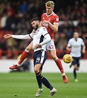 Bolton Wanderers' Gary Madine battles with Nottingham Forest's Joe Worrall <br /> <br /> Photographer Jon Hobley/CameraSport<br /> <br /> The EFL Sky Bet Championship - Nottingham Forest v Bolton Wanderers - Saturday 9th December 2017 - The City Ground - Nottingham<br /> <br /> World Copyright © 2017 CameraSport. All rights reserved. 43 Linden Ave. Countesthorpe. Leicester. England. LE8 5PG - Tel: +44 (0) 116 277 4147 - admin@camerasport.com - www.camerasport.com