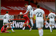 Leeds United defender Oliver Casey (49) in action  during the The FA Cup match between Crawley Town and Leeds United at The People's Pension Stadium, Crawley, England on 10 January 2021.