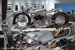 "Max Hazan's custom 1965 Harley-Davidson XLCH Supercharged Ironhead in Michael Lichter's Motorcycles as Art annual exhibition titled ""The Naked Truth"" at the Buffalo Chip Gallery during the 75th Annual Sturgis Black Hills Motorcycle Rally.  SD, USA.  August 4, 2015.  Photography ©2015 Michael Lichter."