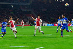 13-03-2019 NED: Ajax - PEC Zwolle, Amsterdam<br /> Ajax has booked an oppressive victory over PEC Zwolle without entertaining the public 2-1 / David Neres #7 of Ajax, Klaas Jan Huntelaar #9 of Ajax, Darryl Lachman #29 of PEC Zwolle