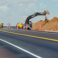 082014       Adron Gardner<br /> <br /> Construction of U.S. Highway 491 continues near Naschitti  Wednesday.