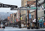 The Ithaca Commons in Ithaca, NY, Friday, March 4, 2016. The City of Ithaca recently unveiled a new drug policy calling for supervised heroin injection sites and heroin maintenance therapy, which are pieces of the four pillars of change proposed.<br /> (Heather Ainsworth for The New York Times)