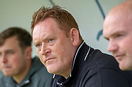 Bradford City Manager David Hopkin sat i nthe dug out prior to kick off during the EFL Sky Bet League 1 match between Doncaster Rovers and Bradford City at the Keepmoat Stadium, Doncaster, England on 22 September 2018.